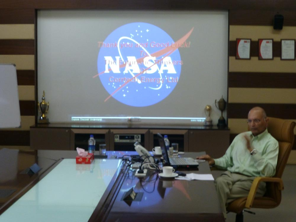 Dr. Sehra shared an interesting presentation on his work and life at NASA